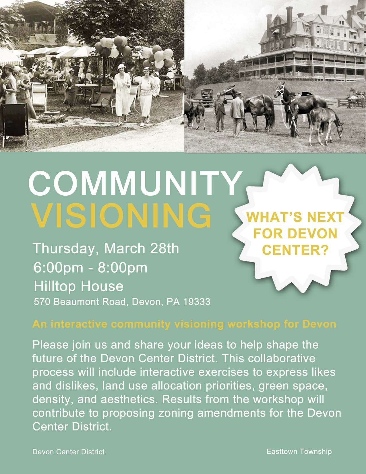 DCTF Community Visioning Workshop Flyer 03.2019