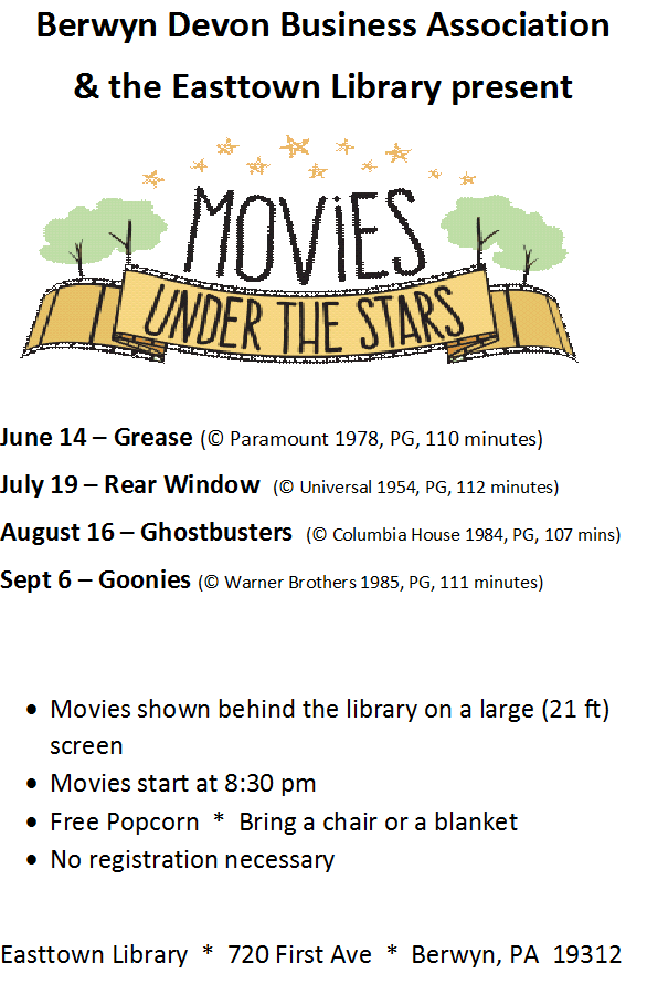 BDBA Summer Movie Series 2019